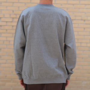 Premium Crew Sweater - Heather Grey - The Populess Company