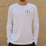 King L/S Tee - White - The Populess Company