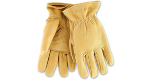 UNLINED BUCKSKIN GLOVES 95233 - Yellow - The Populess Company