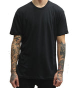 Script Tee - Black - The Populess Company