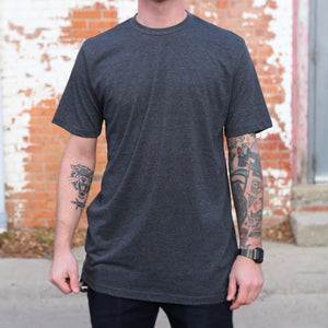 Script Tee - Charcoal - The Populess Company