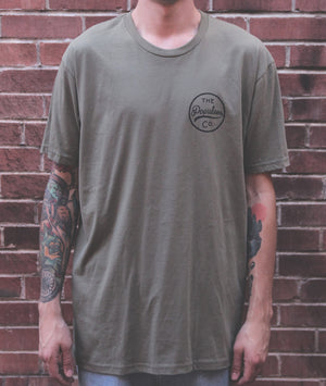 Coulee Rattler Tee - Military Green - The Populess Company