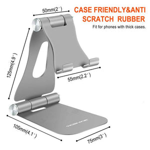 Support Téléphone Aluminum Portable 3 in 1 Multi-Angle Ajustable