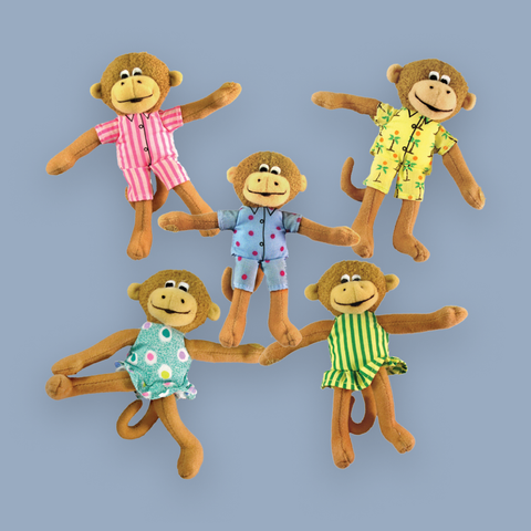 "Five Little Monkeys Finger Puppet Playset 5"" pkg 10x6"