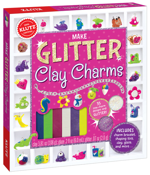 Make Glitter Clay Charms
