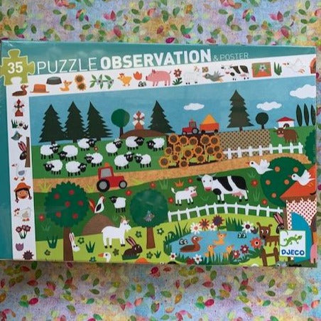 Observation Puzzle- Farm 35 pieces