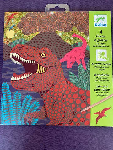 Scratch Boards - When Dinosaurs Reigned