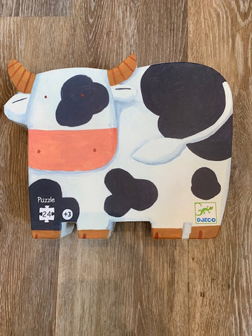 Silhouette Puzzle- The Cows on the Farm
