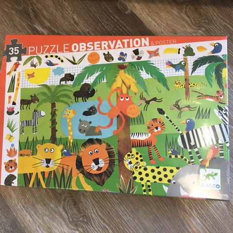 Observation Puzzle- Jungle 35 pieces