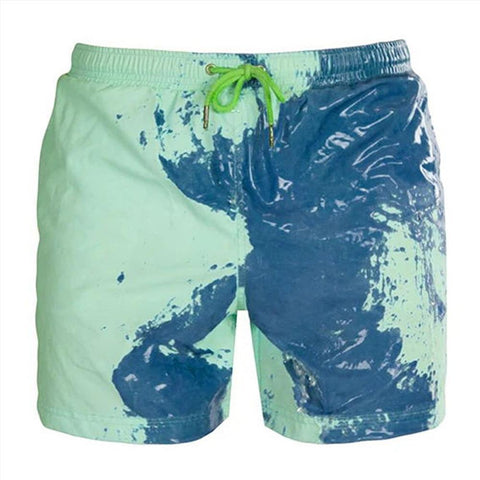 Le short de bain innovant: il change de couleur au contact de l'eau !