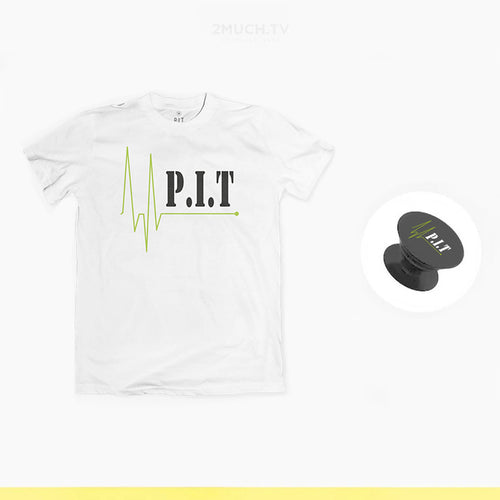 P.I.T. - Bundle t-shirt bianca + Popsocket