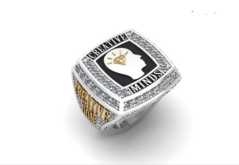 CUSTOM 14K WHITE GOLD CHAMPIONSHIP RING