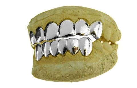 White Gold Custom GRILLZ
