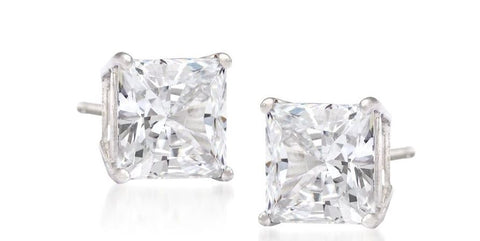 33 ct. t.w. Princess-Cut Diamond Stud Earrings in 10k White Gold