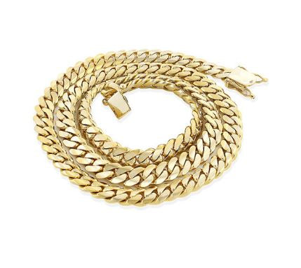 MIAMI GOLD CUBAN LINK CHAIN FOR MEN 14K