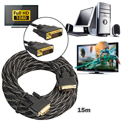 1 unid digital más nuevo Monitores DVI D a dvi-d 24 + 1 macho oro señal digital HD TV cable para CRT digital 0.5 M/1 m/1.8 m/3 m/5 M