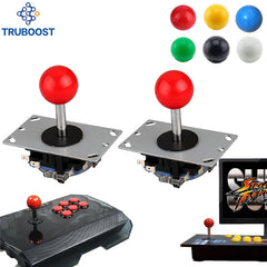 2 piezas de joystick unids Arcade DIY Joystick Red Ball 4/8 Way Joystick Fighting Stick partes para juegos Arcade