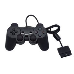 Negro controlador con cable 1,8 m doble Shock remoto joystick Gamepad Joypad para PlayStation 2 PS2 K5