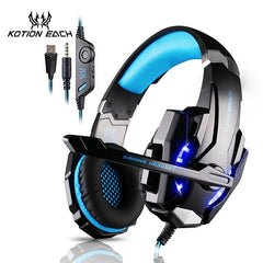 KOTION EACH Gaming Auriculares auriculares de juegos Xbox One auriculares con micrófono para pc ps4 playstation 4 portátil