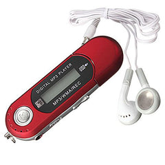 Pequeño clip MP3 reproductor de 8 GB USB 2,0 Flash Drive Mini LCD MP3 reproductor de música de Radio FM deporte Musical Mp3 jugador con 3,5mm auricular @ W