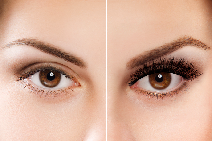 before and after 3d lashes