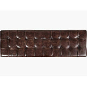 Jofran Leather Ottoman Bench In Dark Sienna Finish It S From India