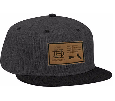 Dark Gray Black Patch Snapback