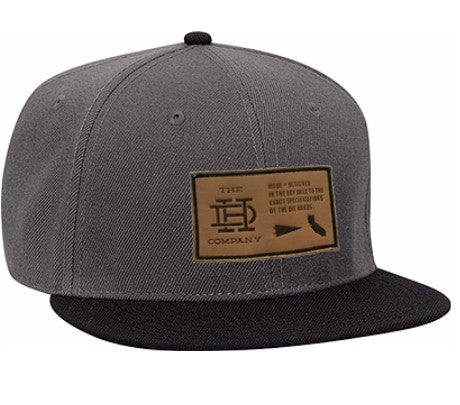 Gray Black Patch Snapback