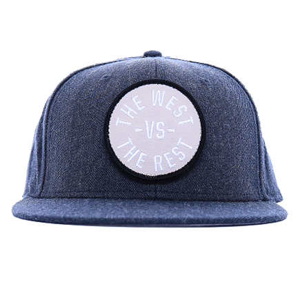 WEST vs THE REST Velcro Hat - Silver & Black