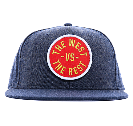 WEST vs THE REST Velcro Hat - Red & Gold