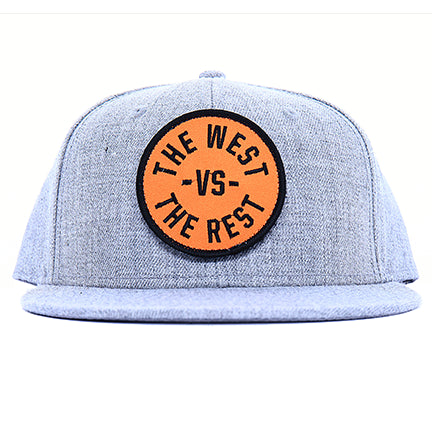 WEST vs THE REST Velcro Hat - Orange & Black