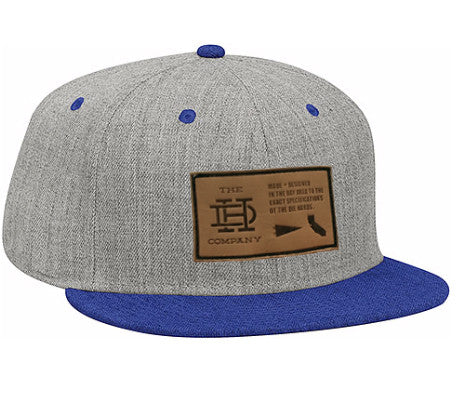 Heather Gray & Blue Patch Snapback