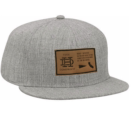 Heather Gray Patch Snapback