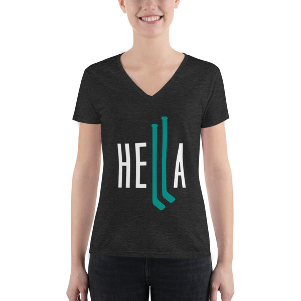 Hella Hockey Womans Vneck