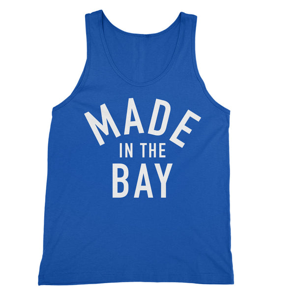 Made In The Bay Womens Blue Tank