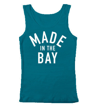 Made In The Bay Womens Teal Tank