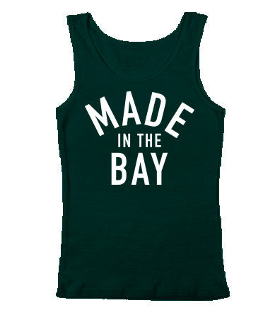Made In The Bay Womens Green Tank