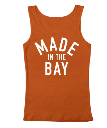 Made In The Bay Womens Orange Tank