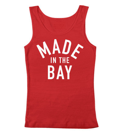Made In The Bay Womens Red Tank