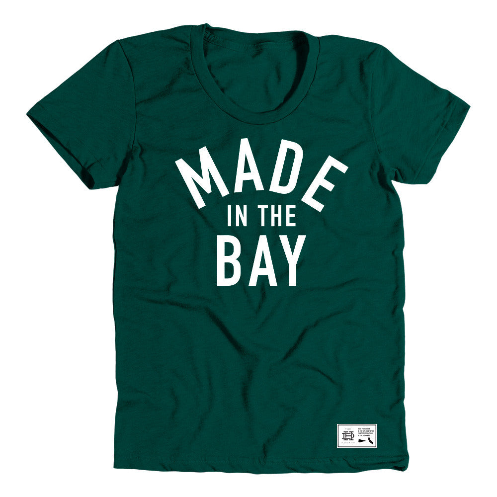 Made In The Bay Womens Green Shirt