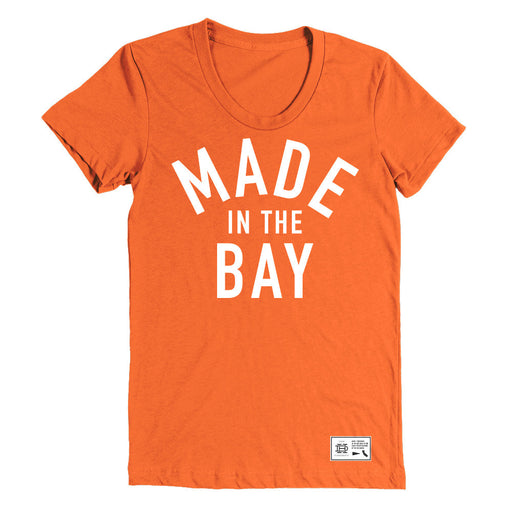 Made In The Bay Womens Orange Shirt