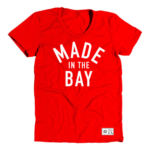 Made In The Bay Womens Red Shirt