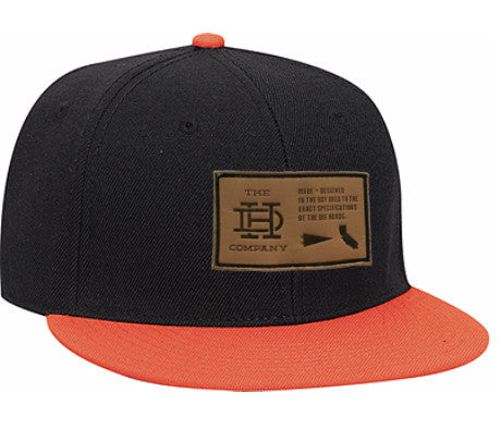 Black & Orange Patch Snapback