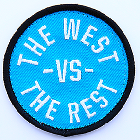 WEST vs THE REST Velcro Patch - Teal & Black