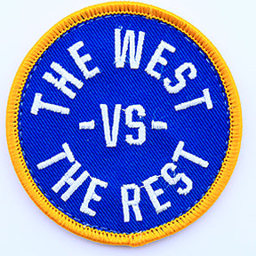 WEST vs THE REST Velcro Patch - Blue & Gold