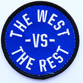 WEST vs THE REST Velcro Patch - Blue & White