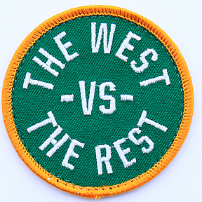 WEST vs THE REST Velcro Patch - Green & Gold