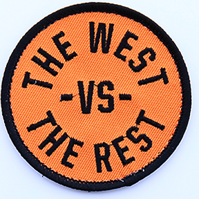 WEST vs THE REST Velcro Patch - Orange & Black