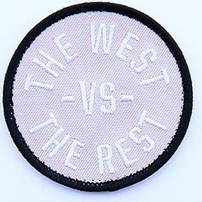WEST vs THE REST Velcro Patch - Silver & Black