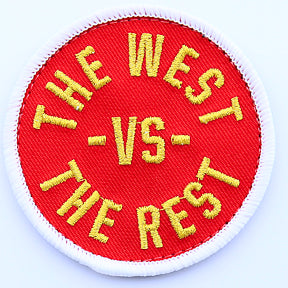 WEST vs THE REST Velcro Patch - Red & Gold